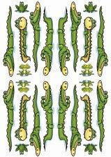 Fietsstickers krokodillen en kikkers
