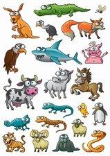 Fietsstickers verschillende grappige dieren