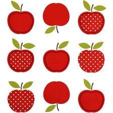 Tafelzeil vintage appel rood