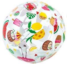 Strandbal fruit & ijsjes (51cm)