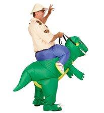 Opblaas pak dinosaurus