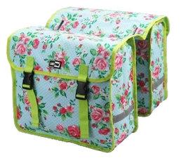 Fietstassen Lastpak bloemmotief groen