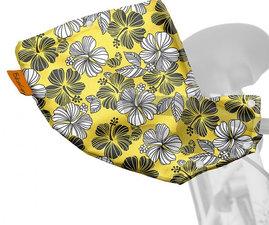 Handmoffen Hawaii bloem geel