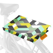 Fietskussen graphic green