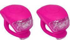 Urban Proof siliconen LED fietslampjes roze