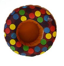 Opblaasbare bekerhouder donut chocolade