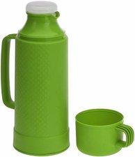 Thermoskan met drinkbeker groen