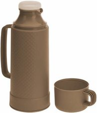 Thermoskan met drinkbeker taupe