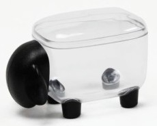 Qualy mini box schaap transparant/zwart