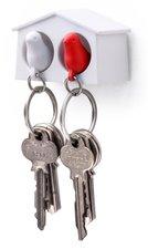 Qualy MINI sleutelkastje 2 vogels wit/rood