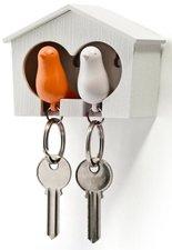 Qualy sleutelkastje 2 vogels oranje/wit
