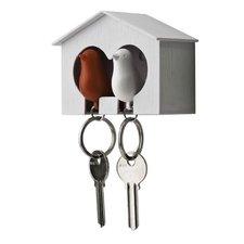 Qualy sleutelkastje 2 vogels rood/wit