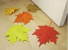 Qualy deurstopper herfstblad bruin