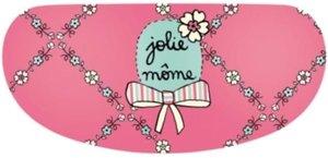 Brillenkoker / Brillenetui Derriere la Porte roze met bloemetjes