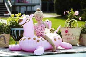 Opblaas tijger Rice roze 130x67cm