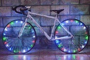 Fietswielverlichting LED gekleurd (voor 1 fietswiel)