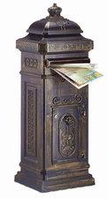 Kolom brievenbus met kroontje brons
