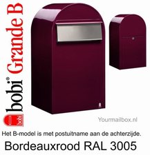 Brievenbus Bobi Grande B bordeauxrood RAL 3005