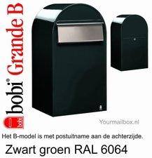Brievenbus Bobi Grande B zwartgroen RAL 6064