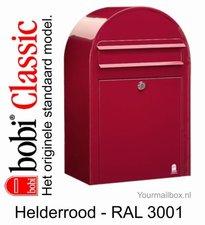 Brievenbus Bobi Classic helderrood RAL 3001