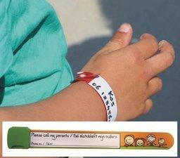 SOS kinderarmbandje/06 polsbandje oranje/groen