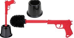 Toiletborstel Pistool zwart/rood