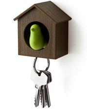 Qualy sleutelkastje vogelhuisje groen/bruin