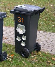 Kliko stickers flowers wit