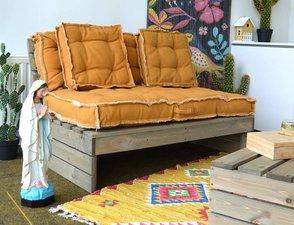 Lounge kussens voor palletbank (oker)
