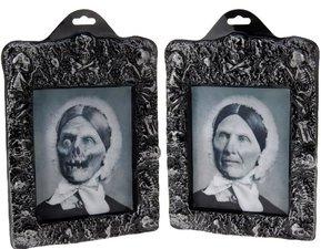 Spookhuis schilderij 3D oud vrouwtje