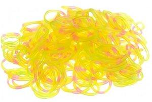 200 loom bands confetti geel/roze