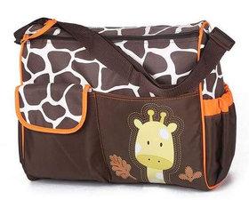 Luiertas giraffe bruin/oranje