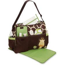 Luiertas giraffe bruin/groen