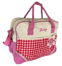 Luiertas baby roze/rood/creme