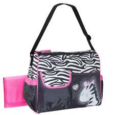 Luiertas Zebra zwart/roze