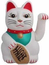 Gelukskat lucky cat Maneki Neko wit