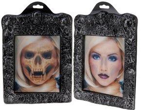 Spookhuis schilderij 3D Blondine
