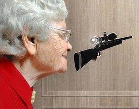 Deursticker Eye Spy Verrekijker