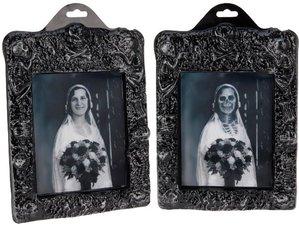 Spookhuis schilderij 3D vrouw trouwjurk