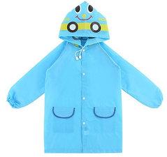 Regenjas kind auto blauw