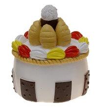 Nep gebakje wit,bruin,rood,geel