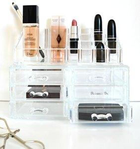 Make-up Organizer vierkant met lades klein