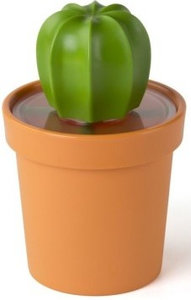 Qualy cactus voorraadpotje met lepeltje
