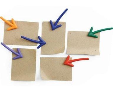 Qualy magneetjes pijlen (set van 6 stuks)