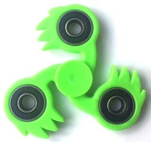 fidget spinner fireball groen