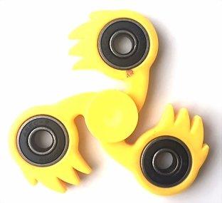 fidget spinner fireball geel
