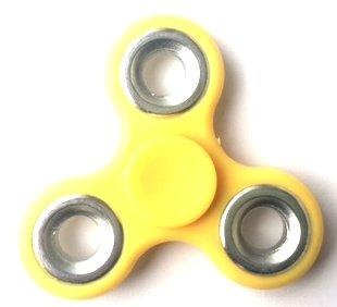 fidget spinner geel zilver