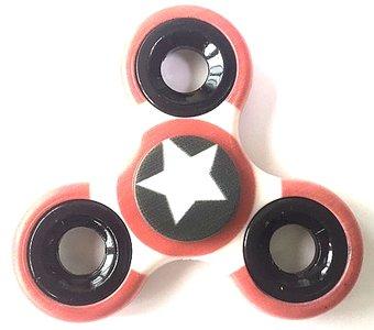 fidget spinner white star