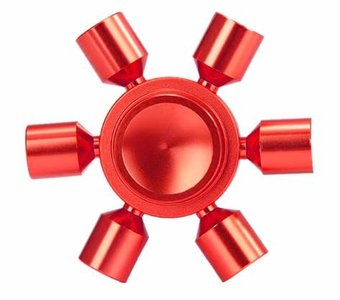 fidget spinner metaal rood 6