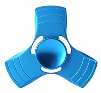 fidget hand spinner blauw metaal